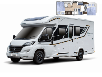 Touring in our motorhome Beni offers flexible sleeping options
