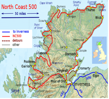 Map Of NC500
